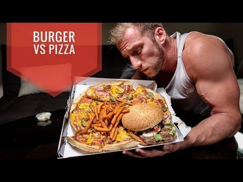 3000 KCAL in einer MAHLZEIT ?  Burger vs Dominos Pizza