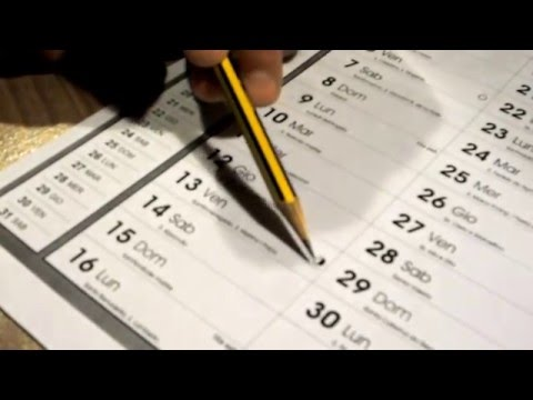 Il calendario e la luna: distinguere le fasi lunari sul calendario.