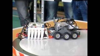 Поединок Lego сумо: скорость против силы