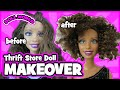 How to Curl Doll Hair | Thrift Store Barbie Doll Makeover