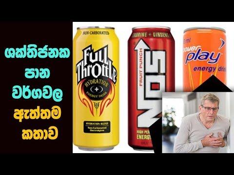 ශක්තිජනක පාන වර්ගවල ඇත්තටම කතාව - The Major Health Problem With Energy Drinks and Caffeine