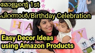 1st Birthday Celebration | Malayalam | 1st Birthday Party Decoration Ideas