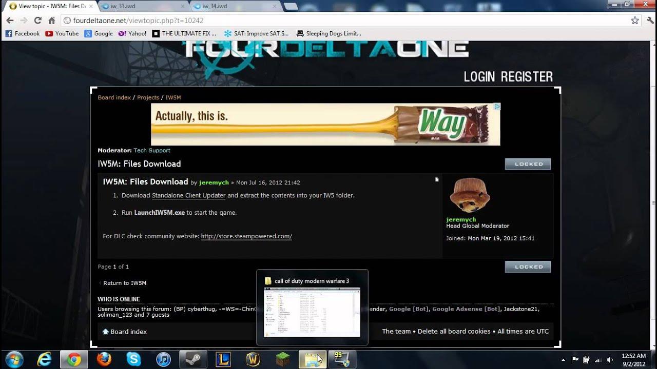Fourdeltaone it's cod but better games facepunch forum.