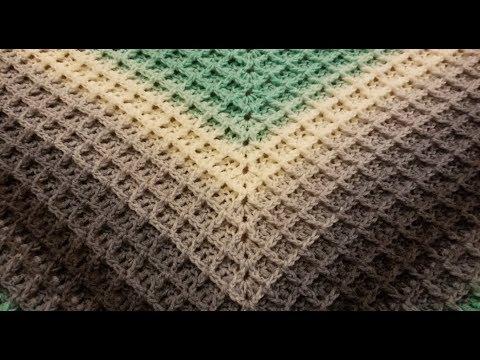 The Waffle Shawl Crochet Tutorial!