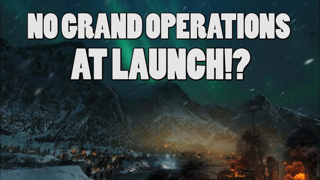BF5's grand operations does not launch with the game