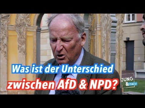 Was ist der Unterschied zwischen AfD und NPD? Was ist ein Nazi, Alexander Gauland (AfD)?