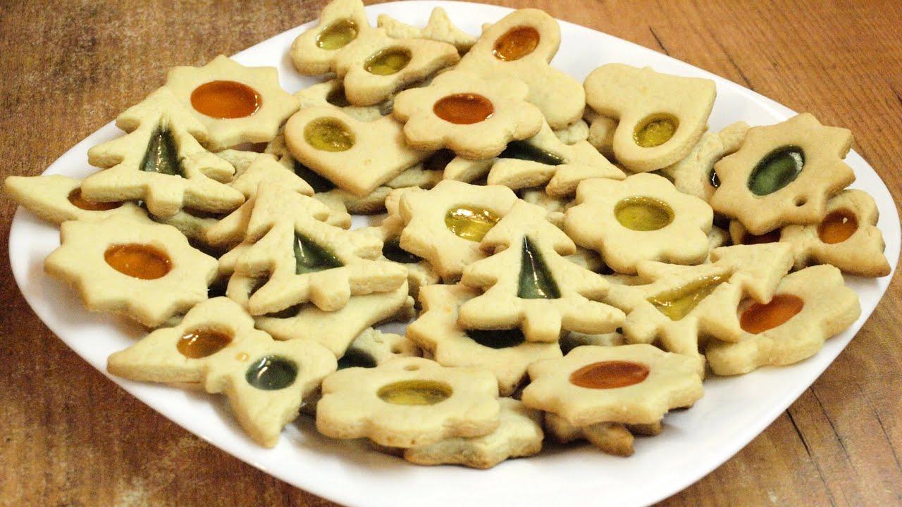 Новогоднее печенье с карамелью / Stained-glass Christmas cookies recipe ♡ English subtitles