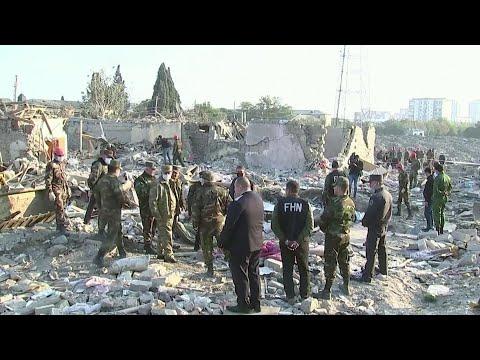 Жители Нагорного Карабаха провели бессонную ночь в подвалах и бомбоубежищах.