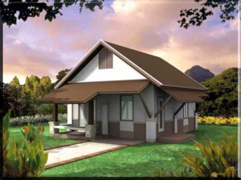 รูปบ้านปูนชั้นเดียว การสร้างบ้านประหยัดพลังงาน