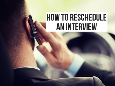 rescheduling an interview