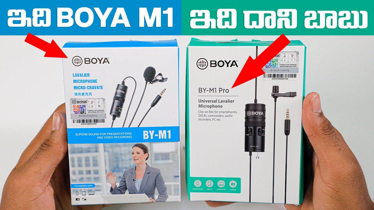 Boya M1 Pro Unboxing & Audio Test | Boya M1 Vs Boya M1 PRO Audio Comparison In Telugu By Sai Krishna