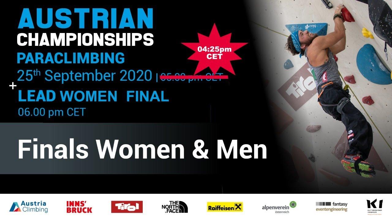 Austrian Climbing Championships 2020   PARACLIMBING MEN + WOMEN / LEAD Women