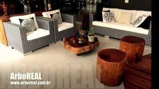 Móveis Rústicos ArboREAL - Mesa Rústica, Prancha, Troncos