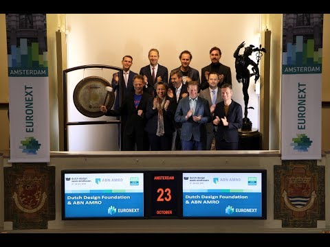 Sounding of the gong for Dutch Design Week with main sponsor ABN AMRO