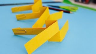 Easy paper craft: How to make a paper helicopter