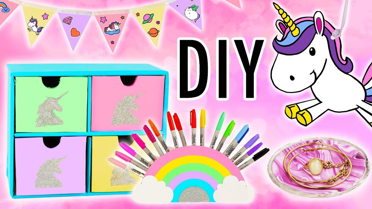 Licorne Kawaii Decoration 7 Idees Faciles Tuto Diy Youtube