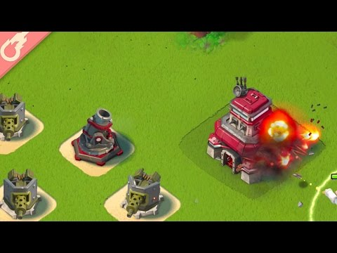 How to Defeat Lt. Hammerman HQ 25 with no Losses in Boom Beach! (Gameplay)