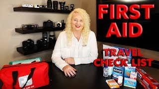 First Aid Kit   Travel Check List - amazon