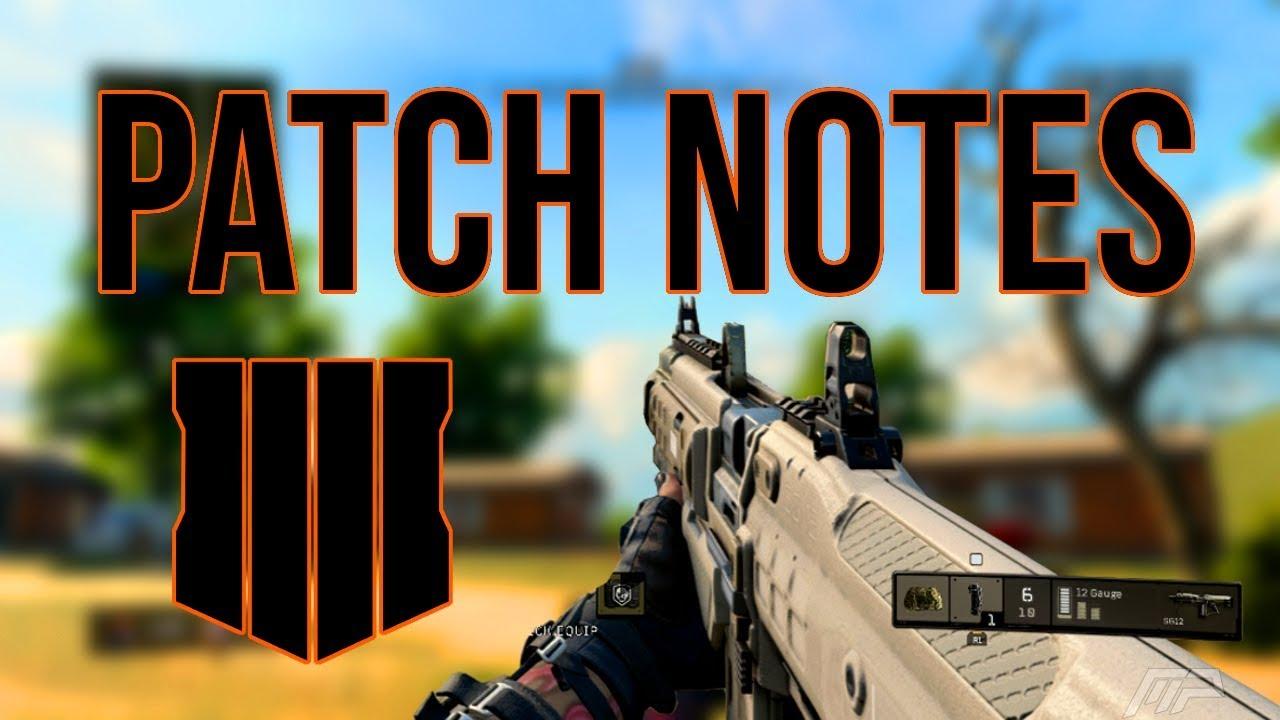 black ops 4 patch notes blackout