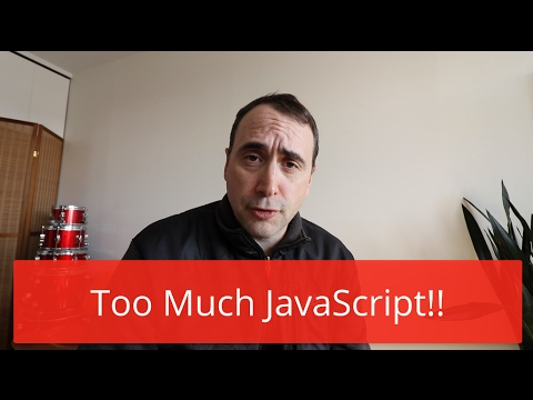 Is there Too Much JavaScript in websites? My Book vs my Courses