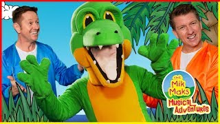 The Bruce Boogie Beach Dance Party | Kids Songs with Actions| The Mik Maks