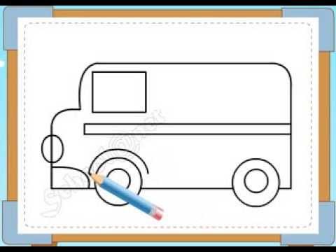 BÉ HỌA SĨ - Thực hành tập vẽ 230: Vẽ xe cứu thương