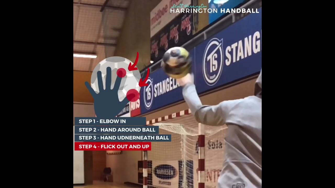 HANDBALL EDUCATION VIDEOS HOW TO  [WING SHOT]  [Screw shot]