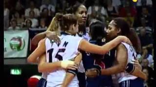 Mondiali Volley 2002 - Finale Italia-Usa 1°Set (2-2)