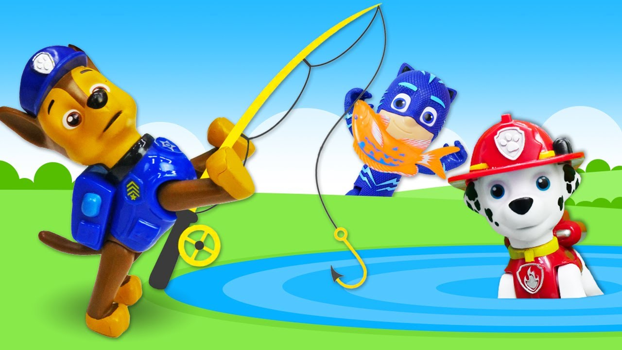 Щенячий Патруль и Кэтбой на Рыбалке! - Сборник видео игрушки Герои в Масках. Весёлые игры для детей