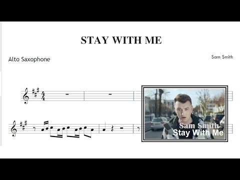 Stay With Me  Sam Smith Sheet Music Alto Saxophone