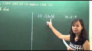 Toán lớp 4 - Chia cho số có nhiều chữ số - Cô Phùng Thu Hòa [Hocmai.vn]