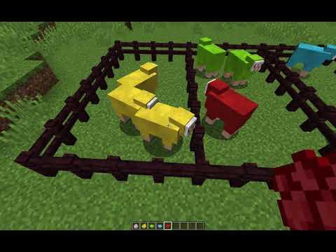 Minecraft Renkli Yun Yapimi Koyun Boyama Youtube