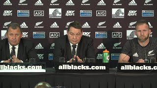 PRESS CONFERENCE: All Blacks beaten by South Africa