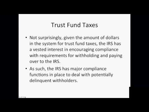 Employment Taxes & The Trust Fund Recovery Penalty