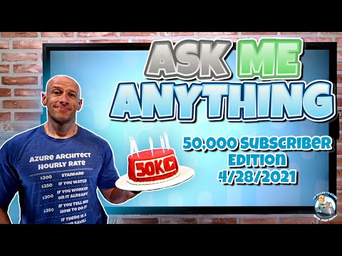 50K Ask Me Anything YouTube Live Stream