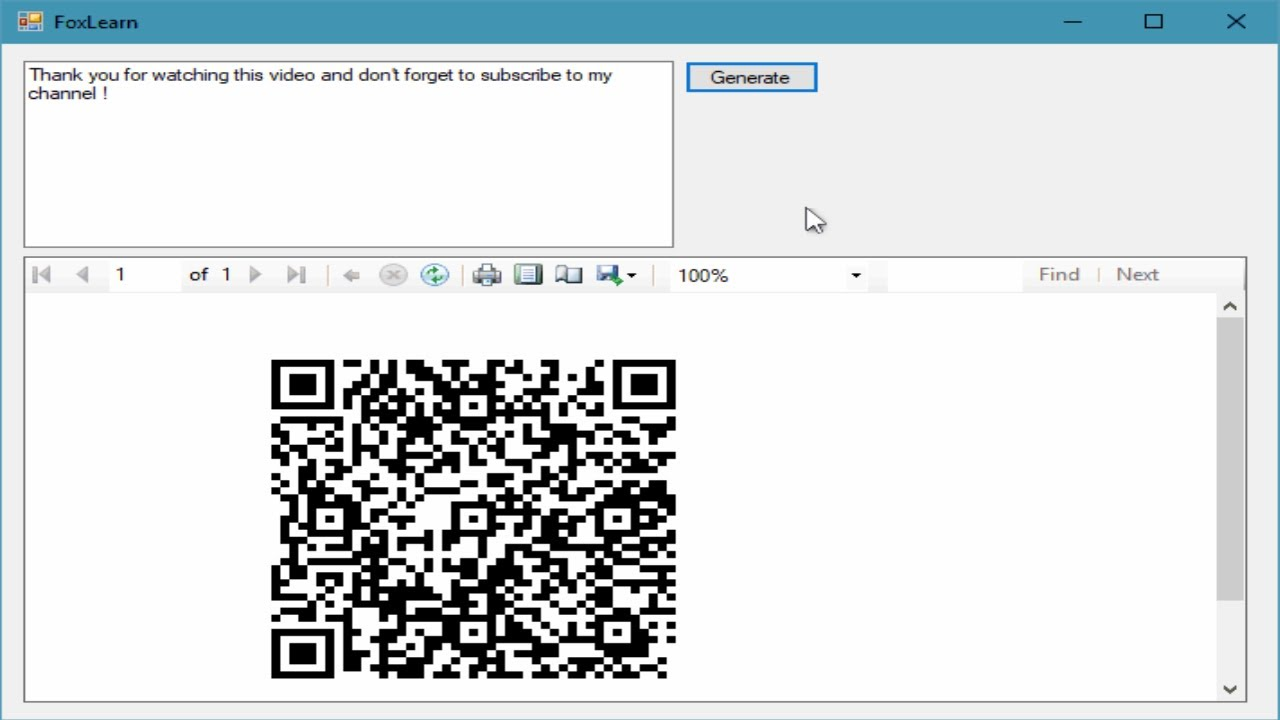 C# Tutorial - How to generate QR Code in RDLC Report | FoxLearn
