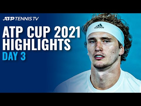 Djokovic & Zverev Battle For Semis; Tsitsipas Faces Bautista Agut | ATP Cup 2021 Highlights Day 3