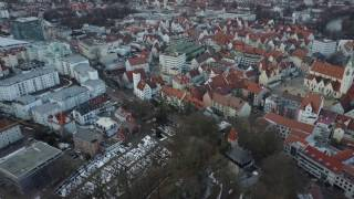 Drone Flight over Kempten (Allgäu) / Burghalde | Stadt von oben | Multikopter Drohne DJI Mavic Pro