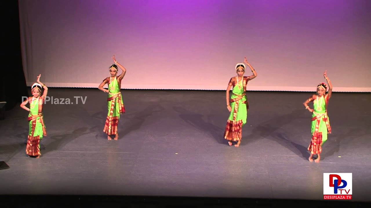 Students from Nrityanjali Kuchipudi dance at Dance for Cure Event.