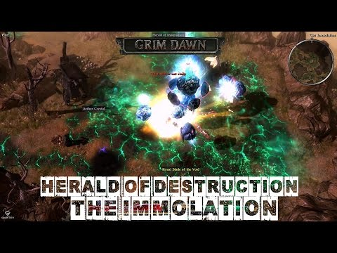 The Immolation (Herald of Destruction Boss Fight) - Grim Dawn Elite Difficulty