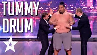 Tummy Talk Drum Play Human Drums With The Judges | Got Talent Global