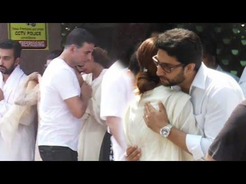 Akshay Kumar and Abhishek Bachchan console a bereaved Shilpa Shetty