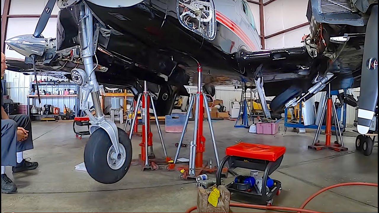 Airplane Maintenance: Gear Rigging~De-Ice Boot Repair @TAS Aviation