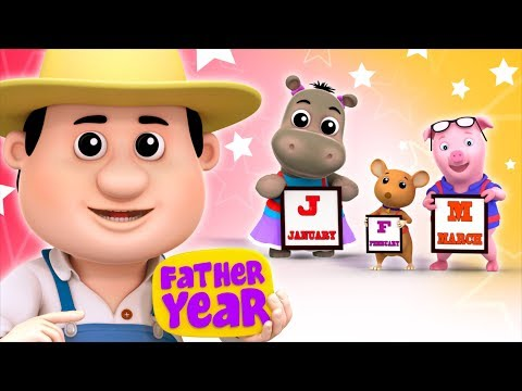 Months Of The Year Song | Kindergarten Nursery Rhymes For Babies by Farmees