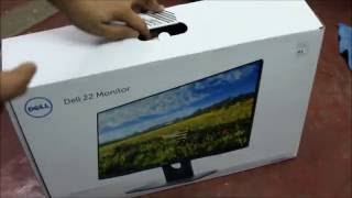 Unboxing Dell S2216H Full HD Monitor & Setup