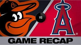 6-run 2nd inning propels Orioles past Angels | Orioles-Angels Game Highlight 7/26/19