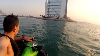 Awesome Jet Skiing in Dubai Near Burj Al Arab (GoPro 1080p HD)