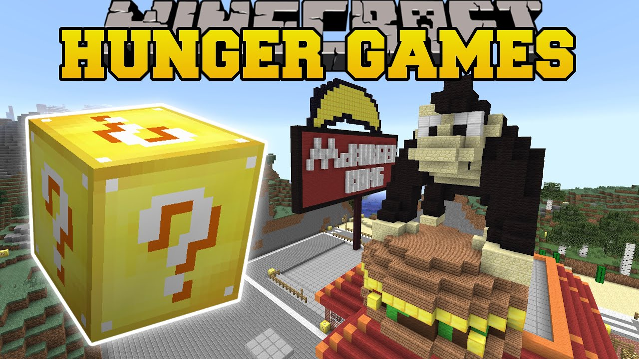 Minecraft MCBURGER KONG HUNGER GAMES Lucky Block Mod Modded Mini Game YouTube