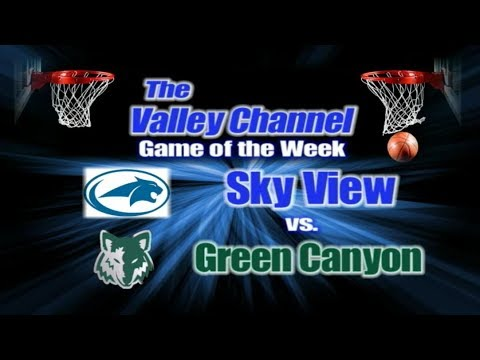 Sky View High School at Green Canyon High School basketball game 1-24-18