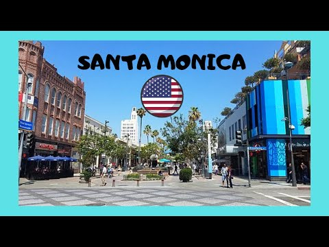 SANTA MONICA: The beautiful THIRD STREET PROMENADE (California, USA)